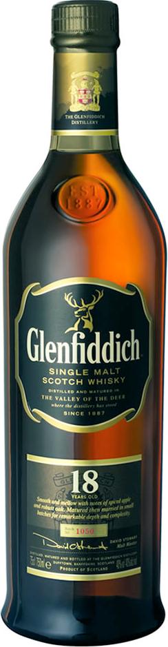glenfiddich single malt 18 years old scotch whisky