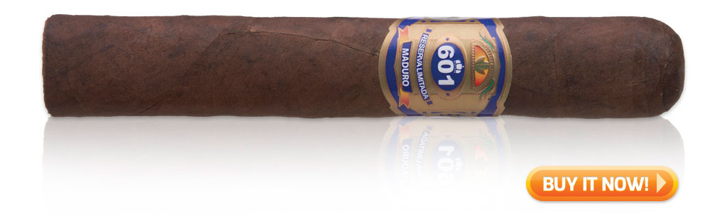 "601 Maduro BP (Blue) Prominente (5½"" x 56) nicaraguan cigars"
