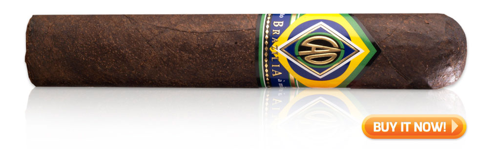 "Cigar: CAO Brazilia Gol! (5"" x 56) maduro wrapper cigars"
