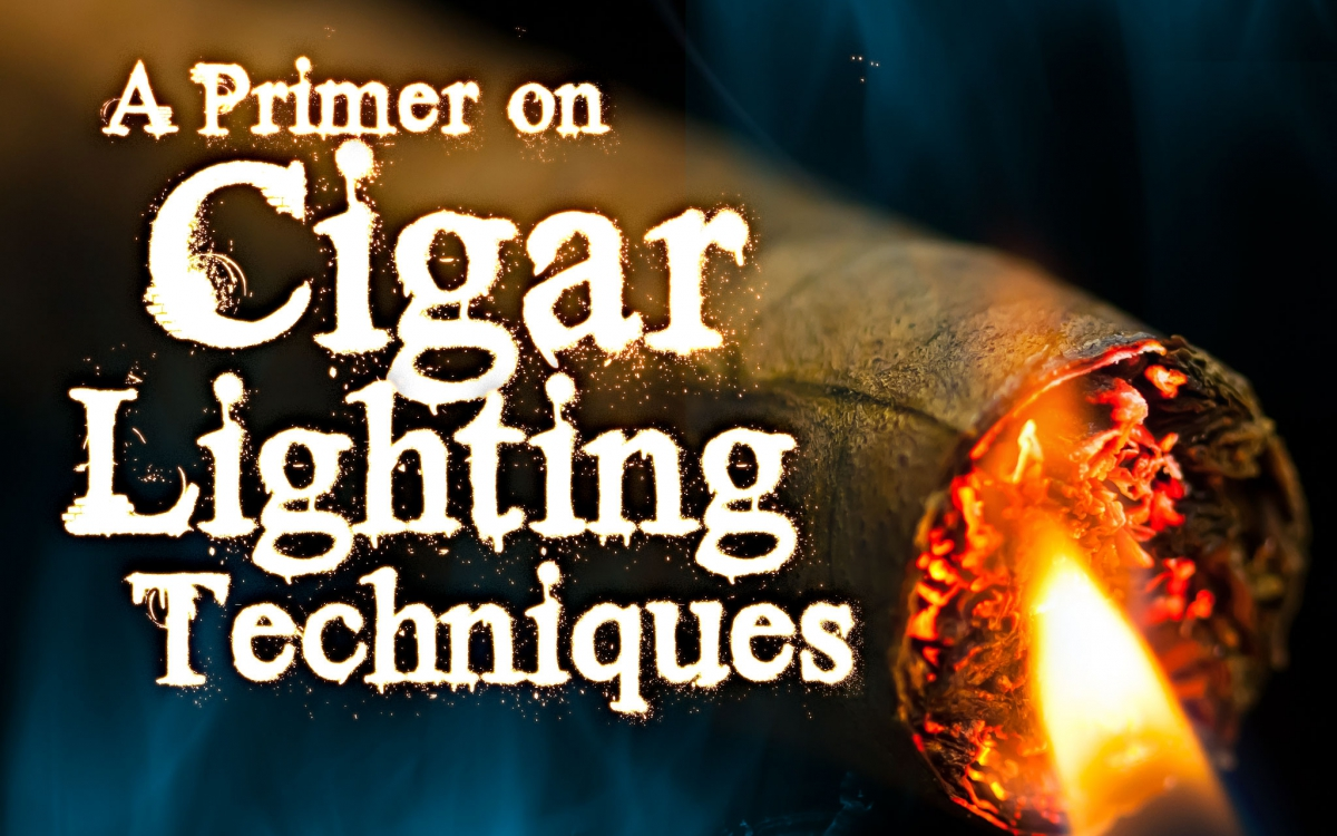 A Primer on Cigar Lighting Techniques