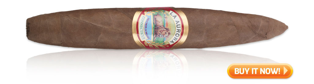 La Aurora Preferido Connecticut torpedo cigar on sale