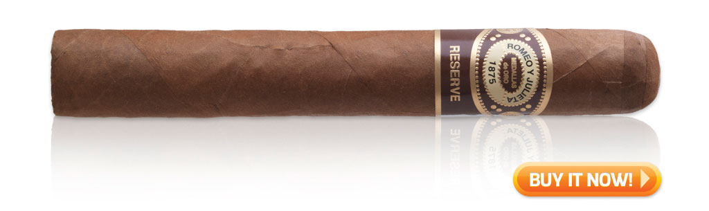Romeo y Julieta Habana Reserve cigars on sale cigar wrapper