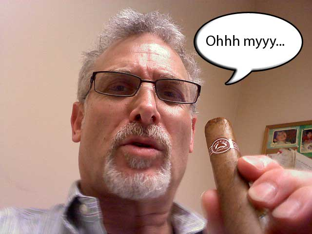 Gary Korb loves his Padron cigars