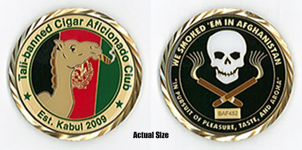 Tali-Banned Cigar Club Challenge Coin