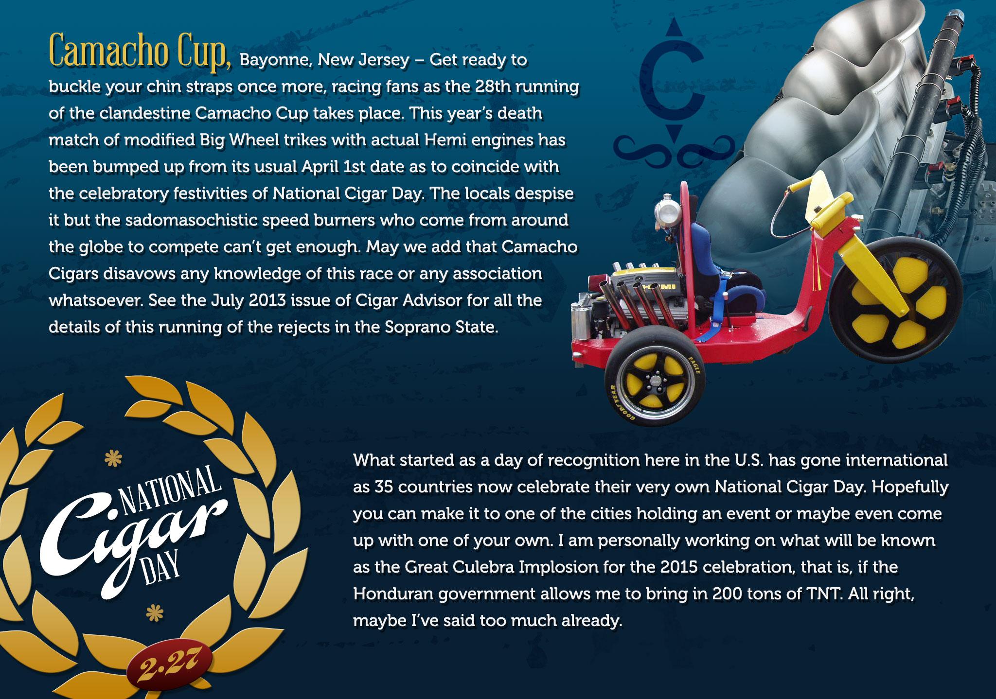 National Cigar Day - Camacho Cup