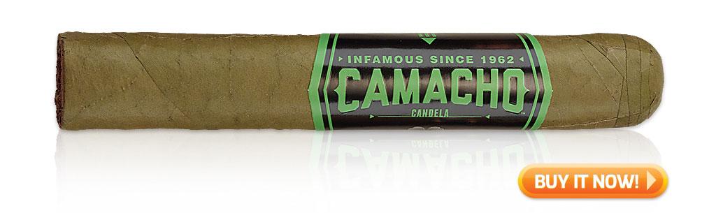 green cigars st. patrick's day camacho candela cigars at Famous Smoke Shop