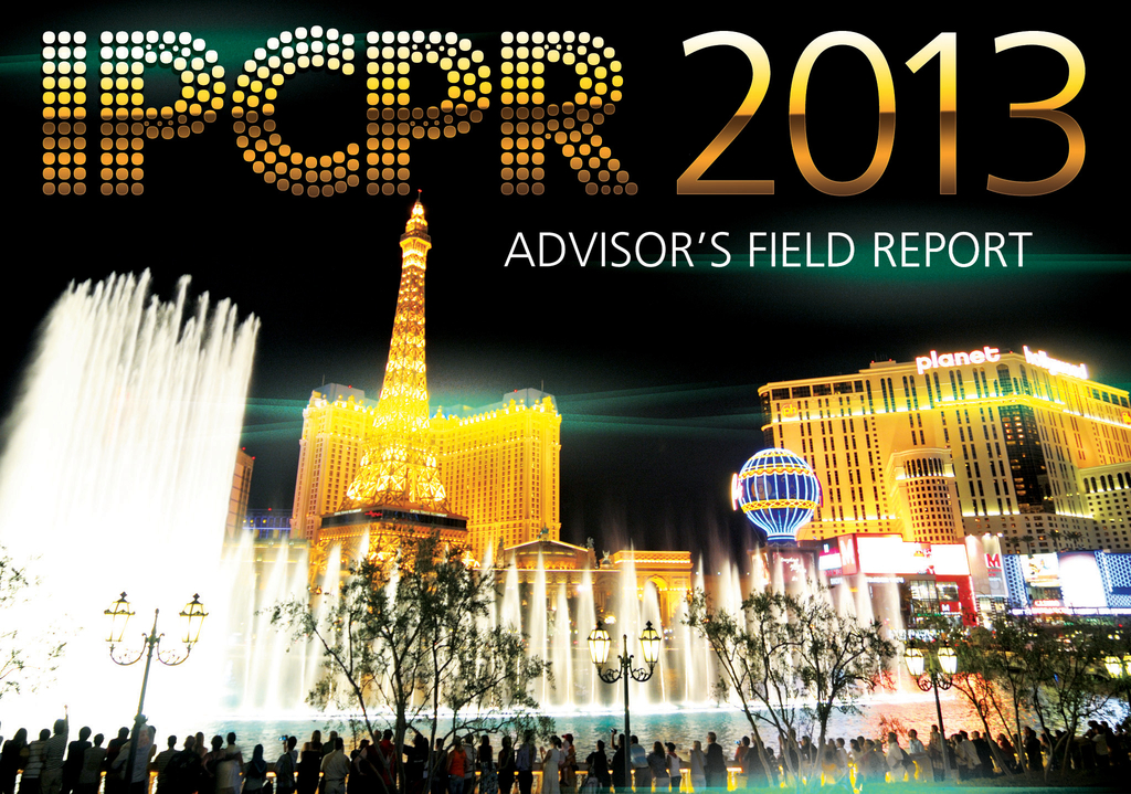 IPCPR 2013 Advisor's Field Report