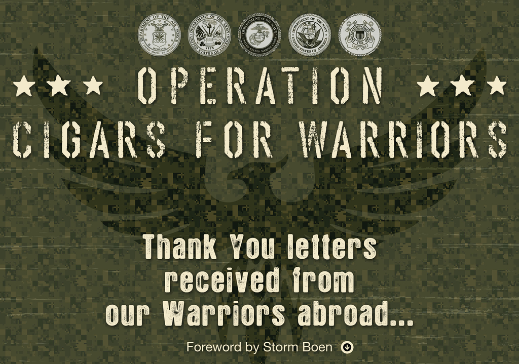 Operation: Cigars For Warriors – Thank You Letters Received from our Warriors Abroad