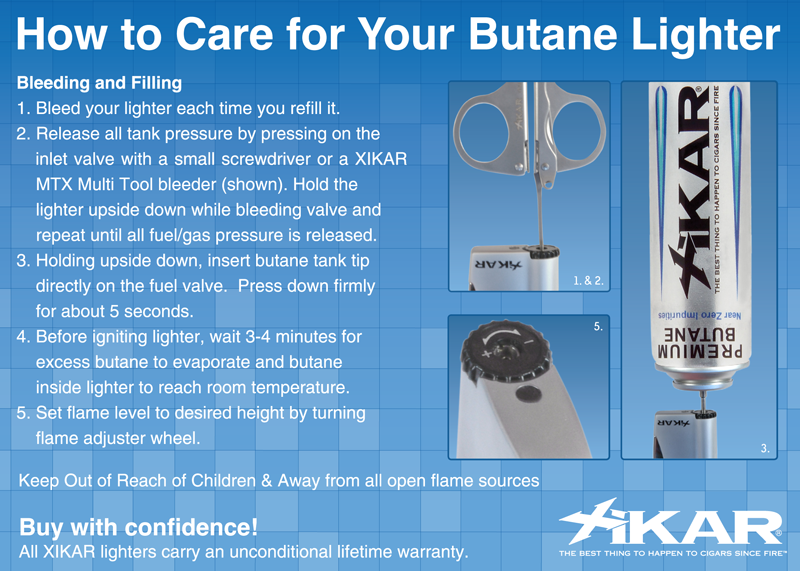 How to Care for Your Butane Lighter