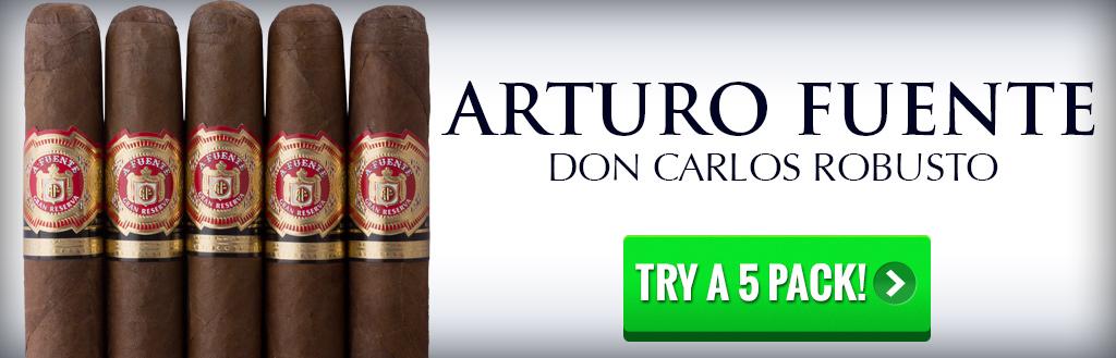 Arturo Fuente Don Carlos Robusto 5 pack