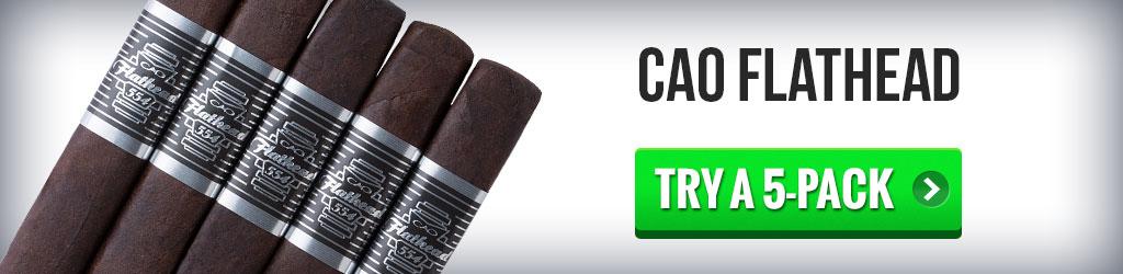 CAO Flathead top dessert cigars