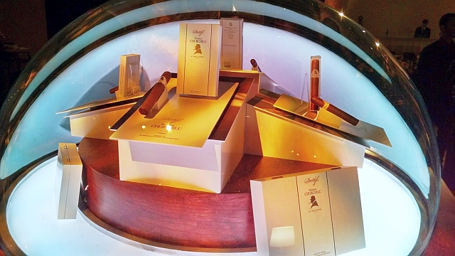 winston churchill cigars davidoff display