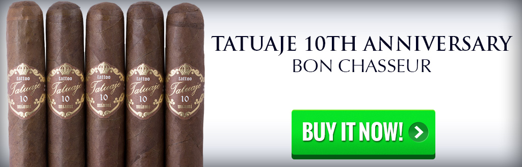 tatuaje 10th anniversary bon chasseur cigars on sale cigar numbers