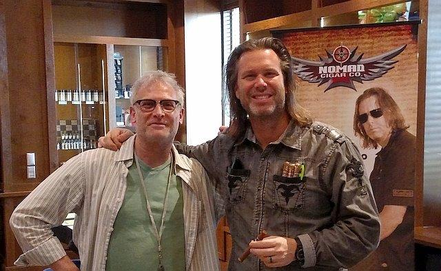 Fred Rewey Nomad cigars with Gary