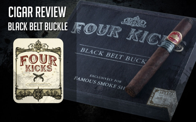 Four Kicks Black Belt Buckle Cigar Review: Video
