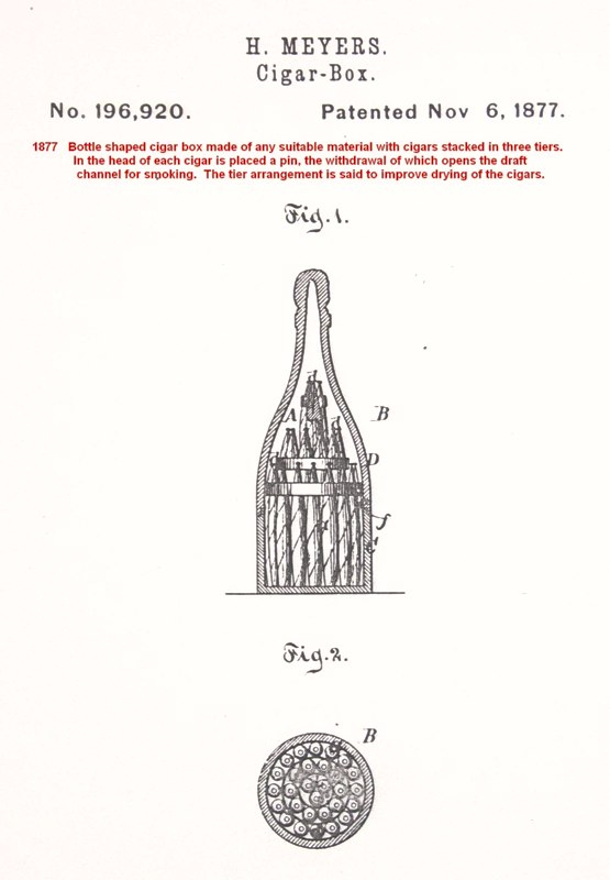 patents for weird cigar boxes