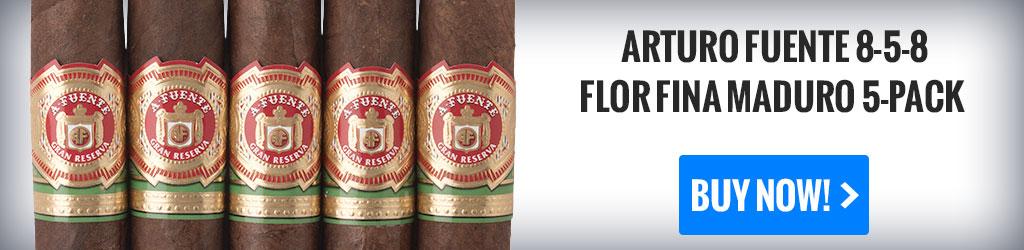 cigar gifts arturo fuente 858 flor fina cigars 5 pack