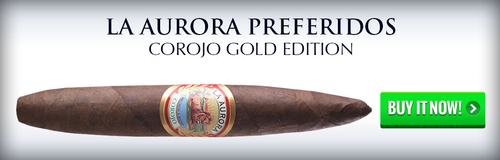 la aurora preferidos corojo gold edition dominican cigars on sale