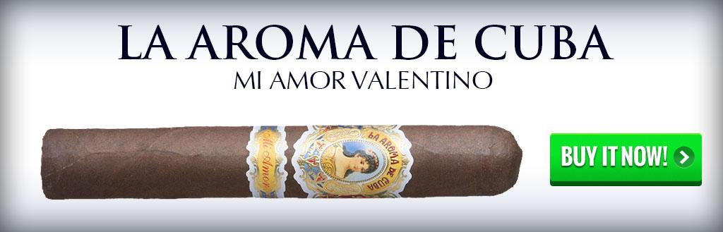 la aroma de cuba mi amor valentino 60 ring cigars