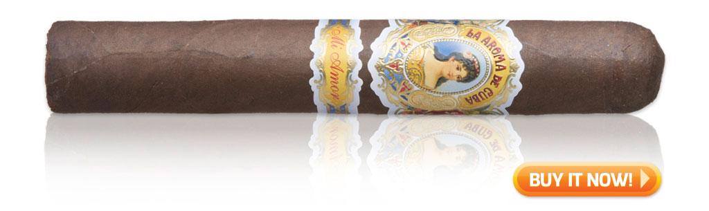 buy La Aroma de cuba Mi Amor cigars on sale best tasting maduro