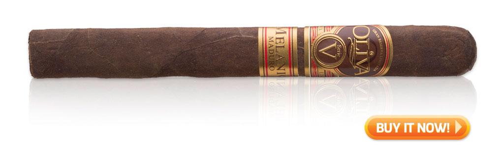 buy Oliva Serie V Melanio cigars on sale best tasting Maduro