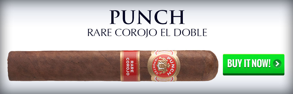 punch rare corojo el doble 60 ring cigars on sale