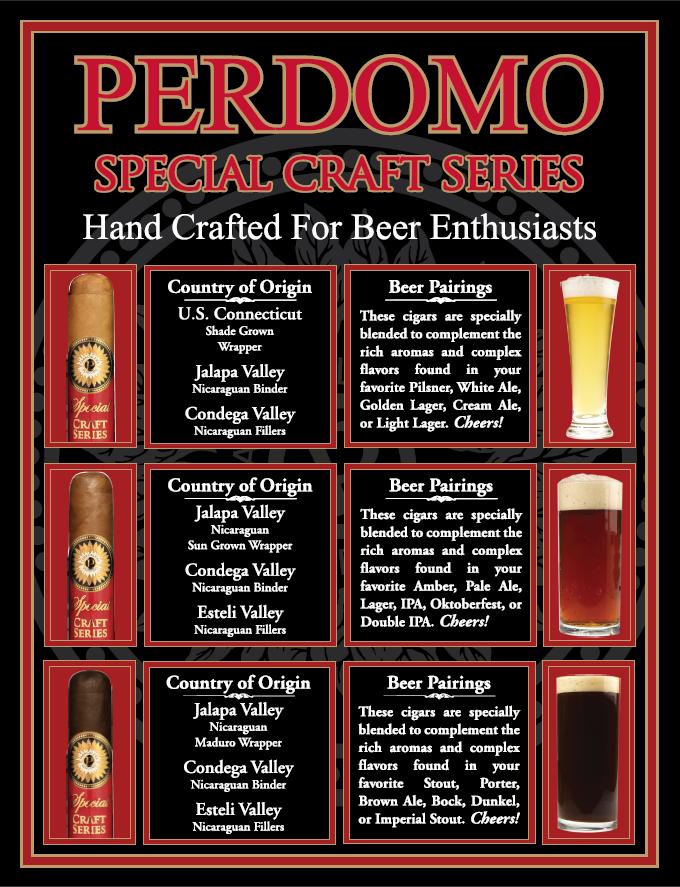 Perdomo Cigars Special Craft Series - Beer Pairing Sheet