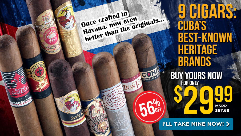Top Cuban Heritage Cigar Sampler