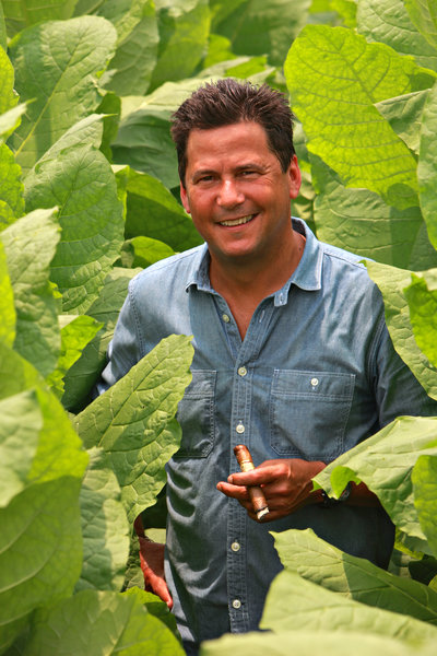 cao cigars rick rodriguez in the tobacco field