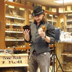 sam leccia at famous smoke shop