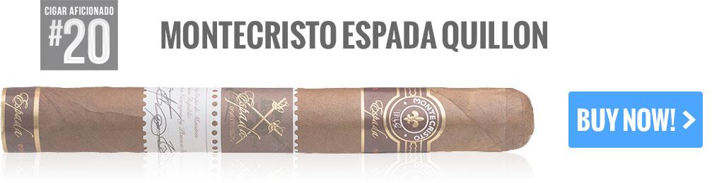 top 25 cigars montecristo espada quillion cigars