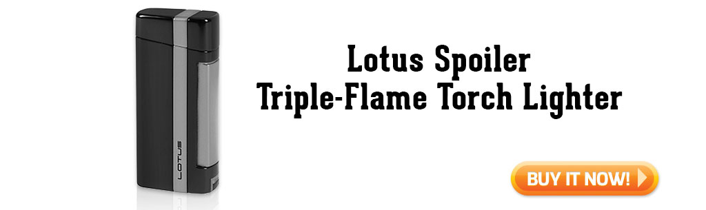Lotus Spoiler Triple Flame Torch Lighter summer cigar accessories