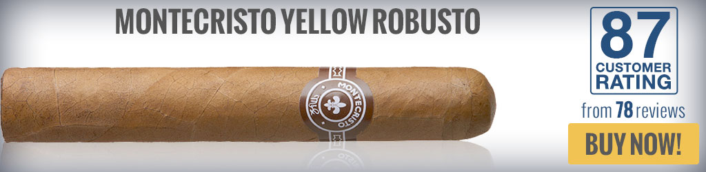 buy montecristo yellow top rated robusto cigars