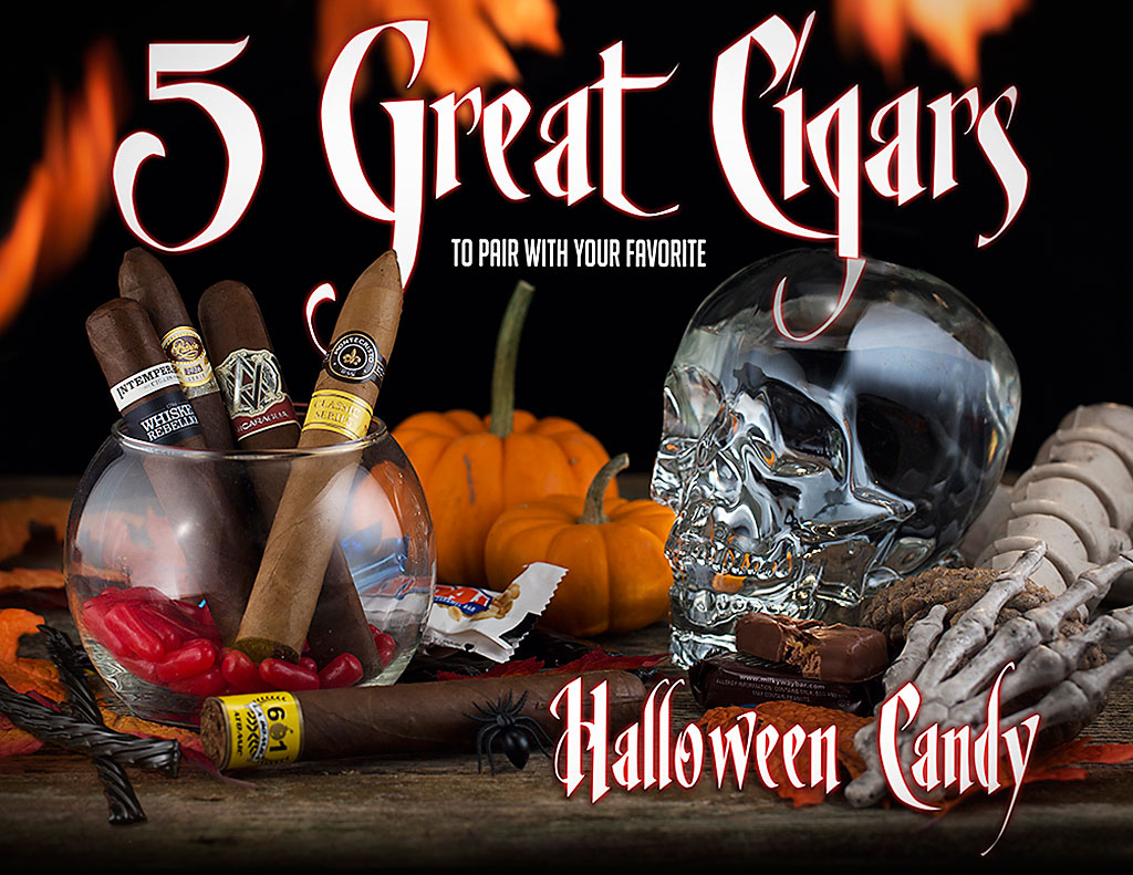 CACover pairing halloween candy and cigars