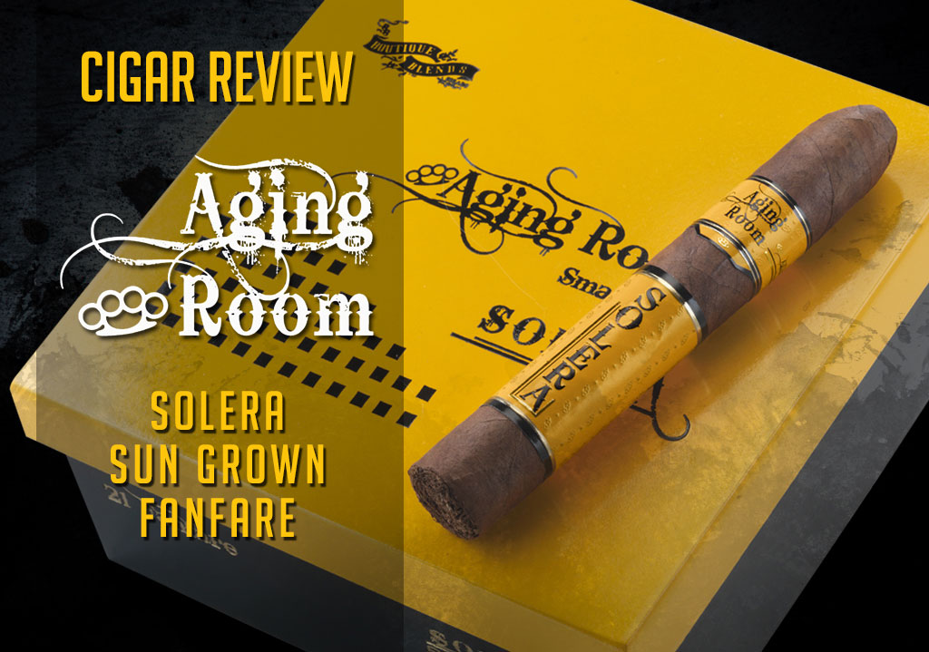 CACover Aging Room Solera cigar review video