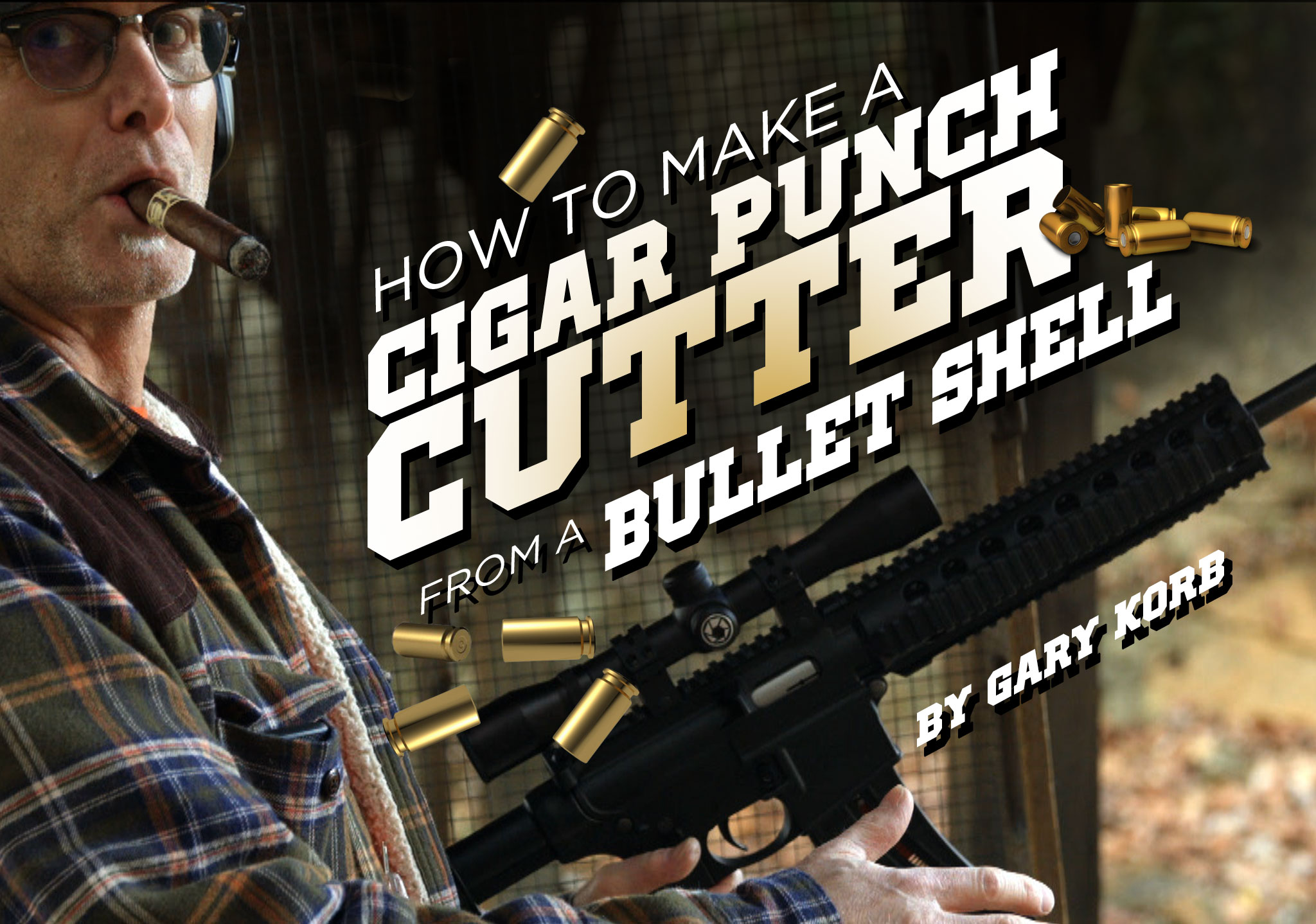 Cigars and guns cigar punch