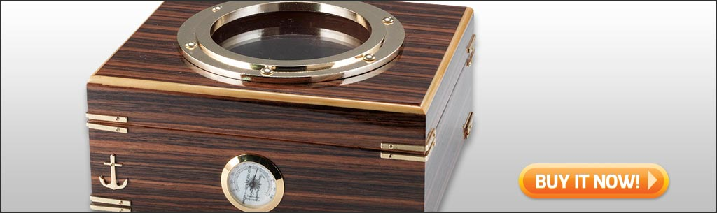 buy desktop humidor porthole glass top humi