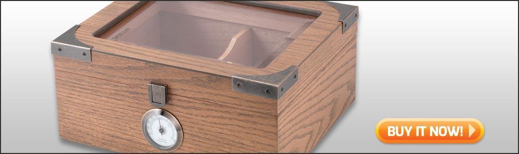 Newport Oak buy glass top humidor desktop humidor