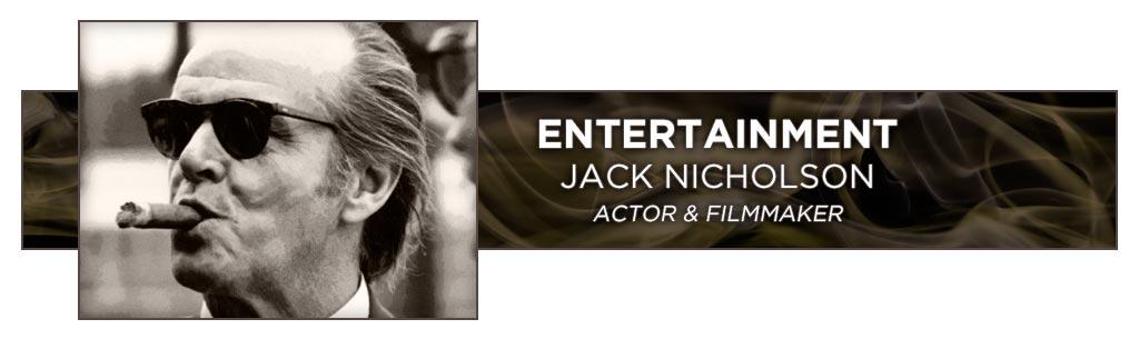 famous cigar smokers Jack Nicholson