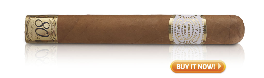 RYJ romeo y julieta cigars guide romeo Capulet 80th anniversary cigar review at Famous Smoke Shop