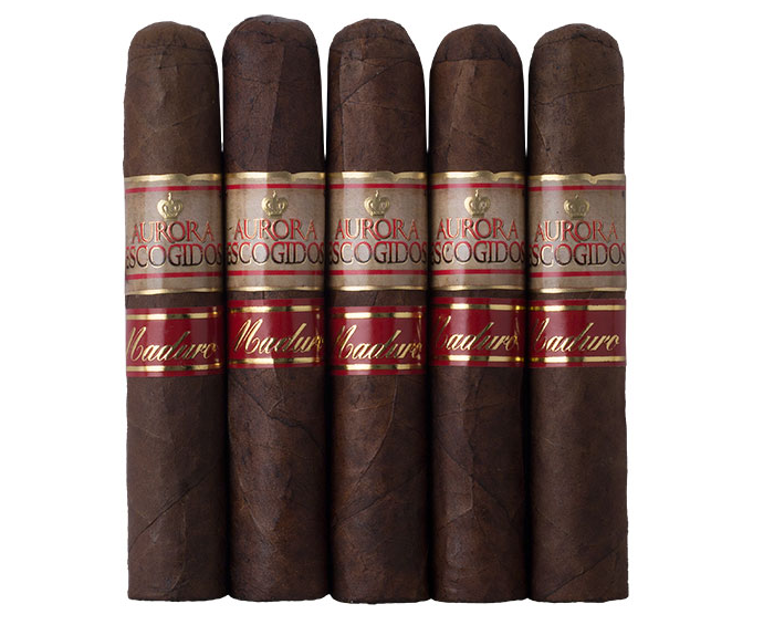 buy la aurora escogidos maduro short robusto 5pack cigars