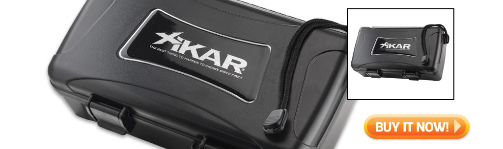 2017 father's day cigar gift guide buy XIKAR 10 COUNT travel humidor