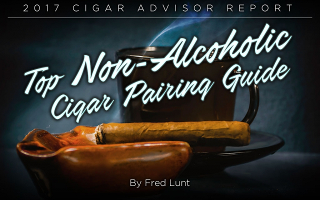 CA Cover non-alcoholic drinks and cigar Pairings