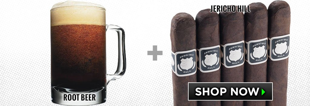 non-alcoholic cigar pairings Root Beer crowned heads jericho hill cigars