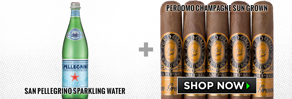 Sparkling Water and cigar pairings perdomo cigars