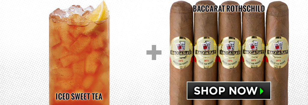 non-alcoholic cigar pairings Sweet iced Tea baccarat cigars