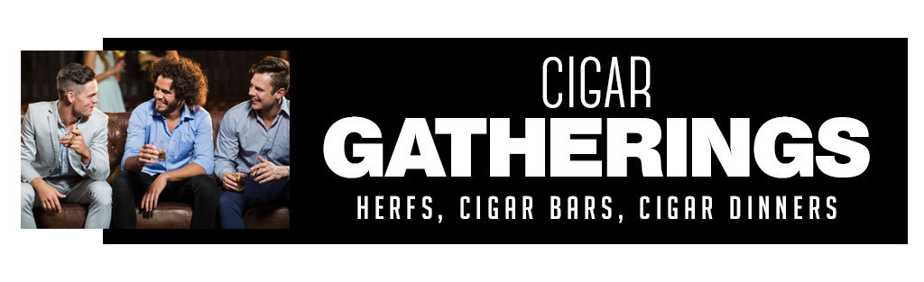 Gatherings occasions to smoke cigars