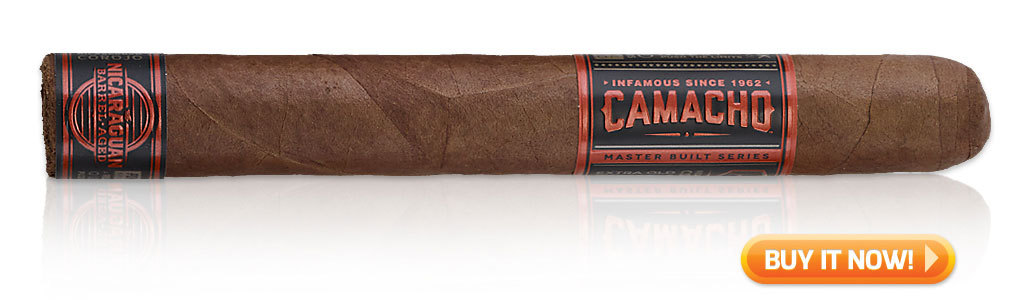 pairing food and cigars Camacho Nicaraguan Barrel Aged cigars