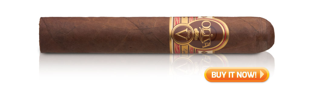 buy oliva serie v cigars double robusto review box
