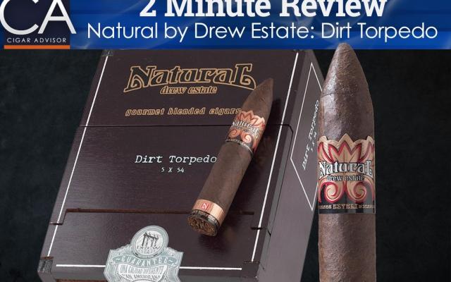 natural by drew estate dirt torpedo cigar review 2 minutes